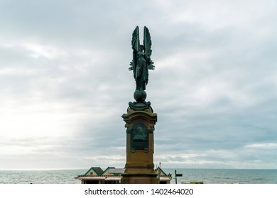 Brighton and Hove, Sussex, UK - January 2019: Peace Statue in Brighton and Hove, a memorial to Edward VII and designed by Newbury Trent in 1912