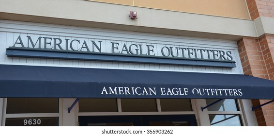 BRIGHTON, MI - AUGUST 22: American Eagle, whose Brighton, MI store awning is shown August 22, 2015, has more than 1,000 stores.