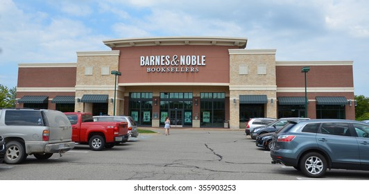BRIGHTON, MI - AUGUST 22: Barnes & Noble, whose Brighton, MI store logo is shown August 22, 2015, has over 1,300 stores.
