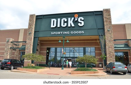 BRIGHTON, MI - AUGUST 22: Dick's Sporting Goods, whose Brighton, MI store is shown August 22, 2015,