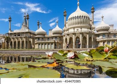 Brighton pavilion at summer day