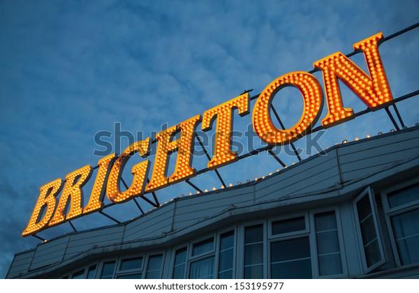 Brighton Pier Lights, England, UK