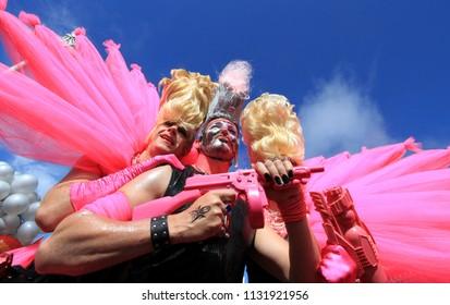 Brighton, Sussex, UK- August 13th 2011: Participants in the Brighton Pride March