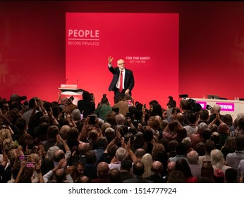 Brighton, UK, 24 September 2019: Jeremy Corbyn at Party Conference