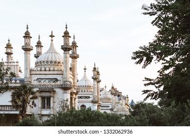 BRIGHTON / UK - June 22, 2018: Royal Pavilion in Brighton