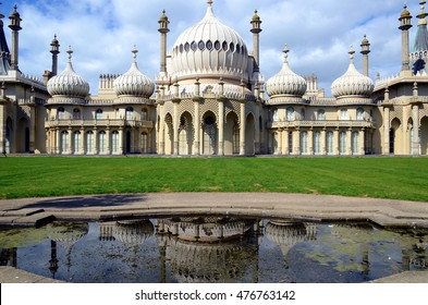 BRIGHTON, UK - MARCH 27: The Royal Pavilion a former Royal residence. Brighton, UK - March 27, 2015