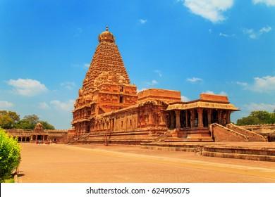 Brihadeeswara Temple in Thanjavur, Tamil Nadu, India, 23.03.2017. One of the world heritage sites UNESCO.