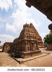 Brihadeeswarar Temple in Thanjavur, Tamil Nadu, India. One of the world heritage sites in India.