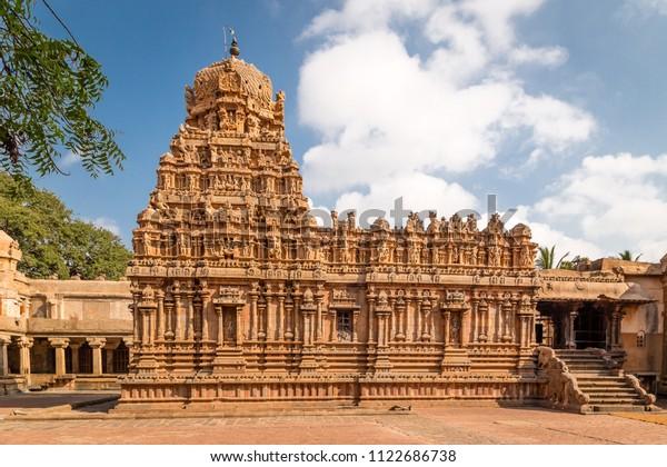 Brihadeshwara Indian Temple Thanjavur Tamil Nadu Stock Photo