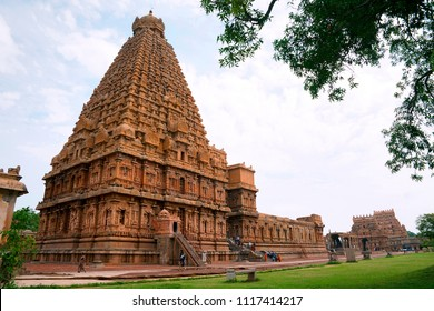 Brihadisvara Temple complex, Tanjore, Tamil Nadu. View from South West.