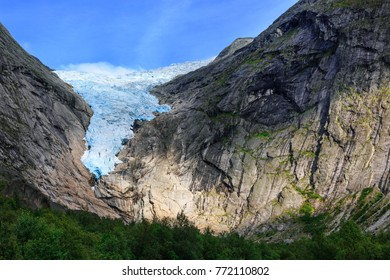 Briksdal glacier, close-up, Olden, Norway