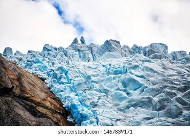 briksdal glacier in north europe Nordfjord norway