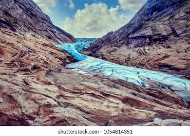 Briksdal glacier) is one of the most accessible and best known arms of the Jostedalsbreen glacier. Briksdalsbreen is located in the municipality of Stryn in Sogn og Fjordane county, Norway.