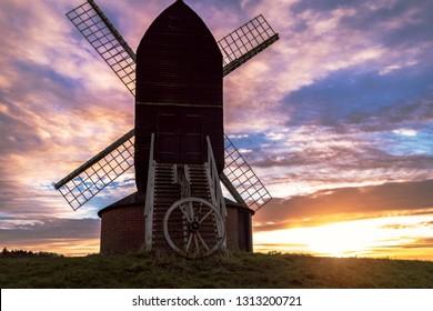 Brill Windmill - 19 November 2017: Sunset at the Brill Windmill