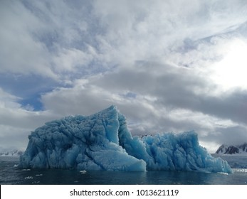 Brilliant Blue Arctic Iceberg