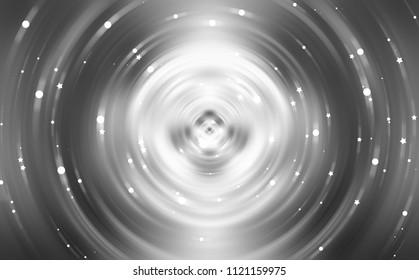 Brilliant silver light circle. Beautiful illustration.