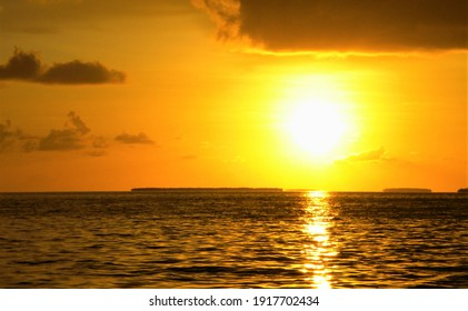 Brilliant sunset over the water