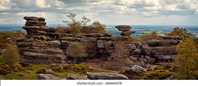 Brimham Rocks panorama
