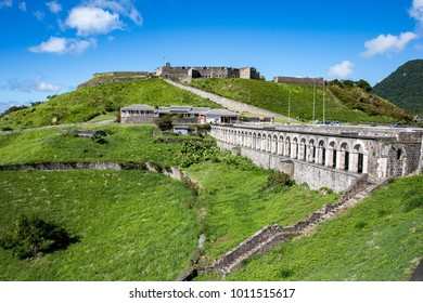 Brimstone Hill Fortress National Park, Saint Kitts & Nevis in the Caribbean
