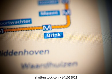 Brink Station. Amsterdam Metro map.