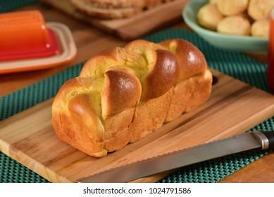 Brioche Bread on breakfast table