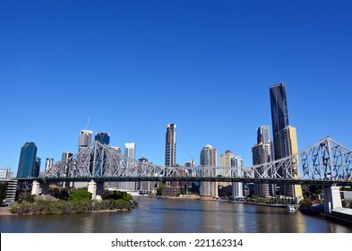 BRISBANE, AUS - SEP 24 2014: Brisbane Skyline. It is Australias third largest city, with its fastest growing economy in Australia.