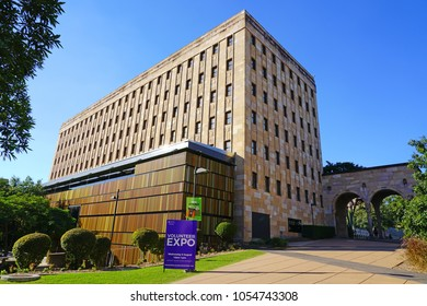 BRISBANE, AUSTRALIA -27 JUL 2017- View of the St Lucia campus of the University of Queensland (UQ), one of the top research universities in Australia, located in Brisbane.