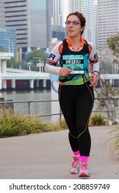 BRISBANE, AUSTRALIA - AUGUST 03 Competitor Dr Leili Golafshani in Brisbane Half Marathon  August 03, 2014 in Brisbane, Australia