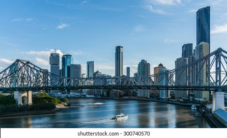 BRISBANE, AUSTRALIA Circa May 2014: The skyline of Brisbane at day