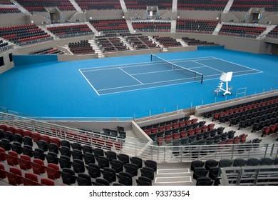 BRISBANE, AUSTRALIA – DECEMBER 16: The Queensland Tennis Centre in Brisbane, stadium venue for the WTA Brisbane International Tournament held each January. Image taken December 16, 2011