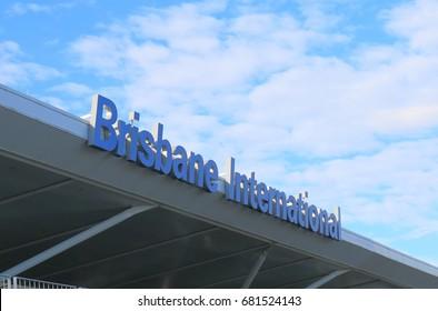 BRISBANE AUSTRALIA - JULY 10, 2017: Brisbane International airport.