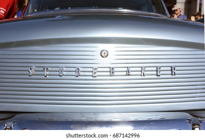 Brisbane, Australia. July 2017 - editorial use only: Rear end of 1960 Studebaker Hawk car at RACQ Motorfest