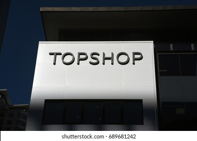 Brisbane, Australia. July 2017 - editorial use only: Topshop retail store on corner of Elizabeth and Albert Streets.
