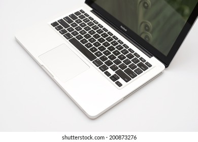 Brisbane, Australia - June 21st, 2014: The MacBook was a brand of notebook manufactured by Apple INC from early 2006 to late 2011. It replaced the iBook series and 12-inch PowerBook series of notebook