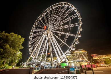 Brisbane, Australia- March 19, 2018: The Wheel of Brisbane in South Bank Parkland, Australia