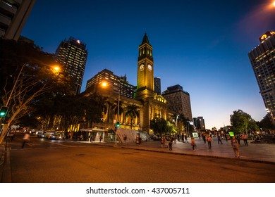 BRISBANE, AUSTRALIA - MAY 05: Brisbane City Hall, The building has been used for royal receptions, orchestral concerts, civic greetings, school graduations and political meetings on May 05, 2016