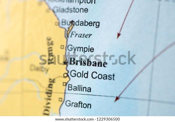 Brisbane Map Australia.Brisbane Australia On Geography Map Stock Photo Edit Now 1229306500