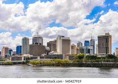 BRISBANE, AUSTRALIA - SEPTEMBER 9, 2012: The skyline of the city with the Central Business District in Brisbane, Australia