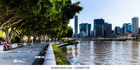 Brisbane Australia  south bank river walk