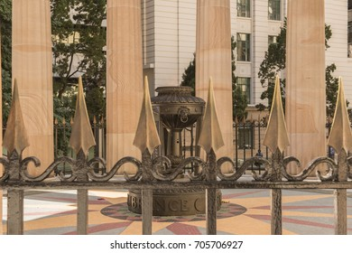 Brisbane, Australia - Thursday 17th August, 2017: View of Anzac Square War Memorial in Brisbane City
