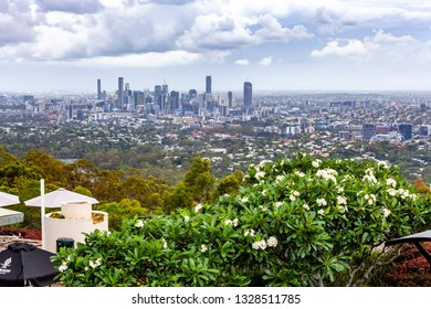 Brisbane CBD skyline viewed from mount Coot-tha lookout