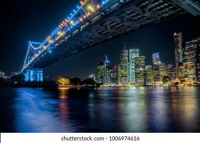 Brisbane City, Australia! Story Bridge and Skyline!