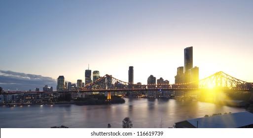 Brisbane city, night