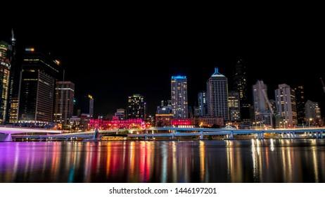 Brisbane city, queensland, australia street road