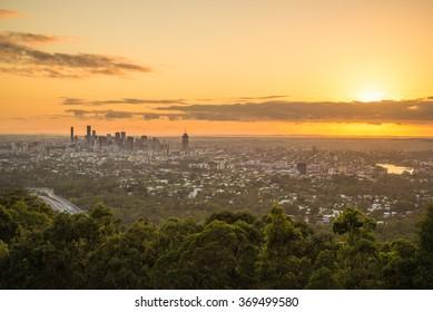 Brisbane city sunrise