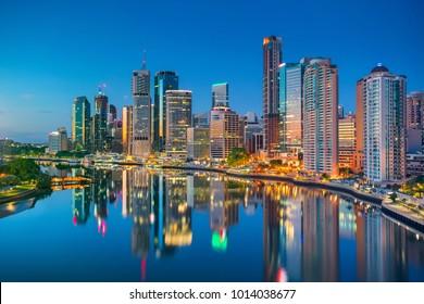 Brisbane. Cityscape image of Brisbane skyline, Australia during sunrise.