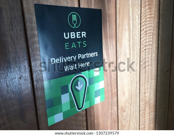 Brisbane Jan 17 2019uber Eats Sign Stock Photo (Edit Now