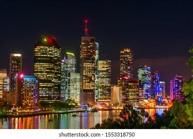 ''Brisbane, QLD / Australia -April 18 2019. Brisbane is the capital of Queensland Australia, the city is built on the Brisbane river.