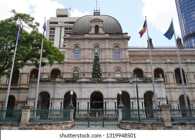 Brisbane, Queensland / Australia - December 28 2018: Queensland Parliament Government Building