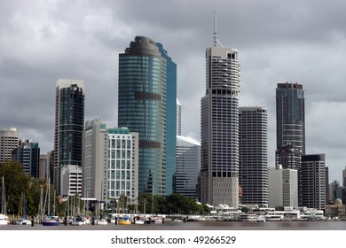 Brisbane, Queensland Australia.  Includes the iconic Riparian Plaza, designed by architect Harry Seidler.